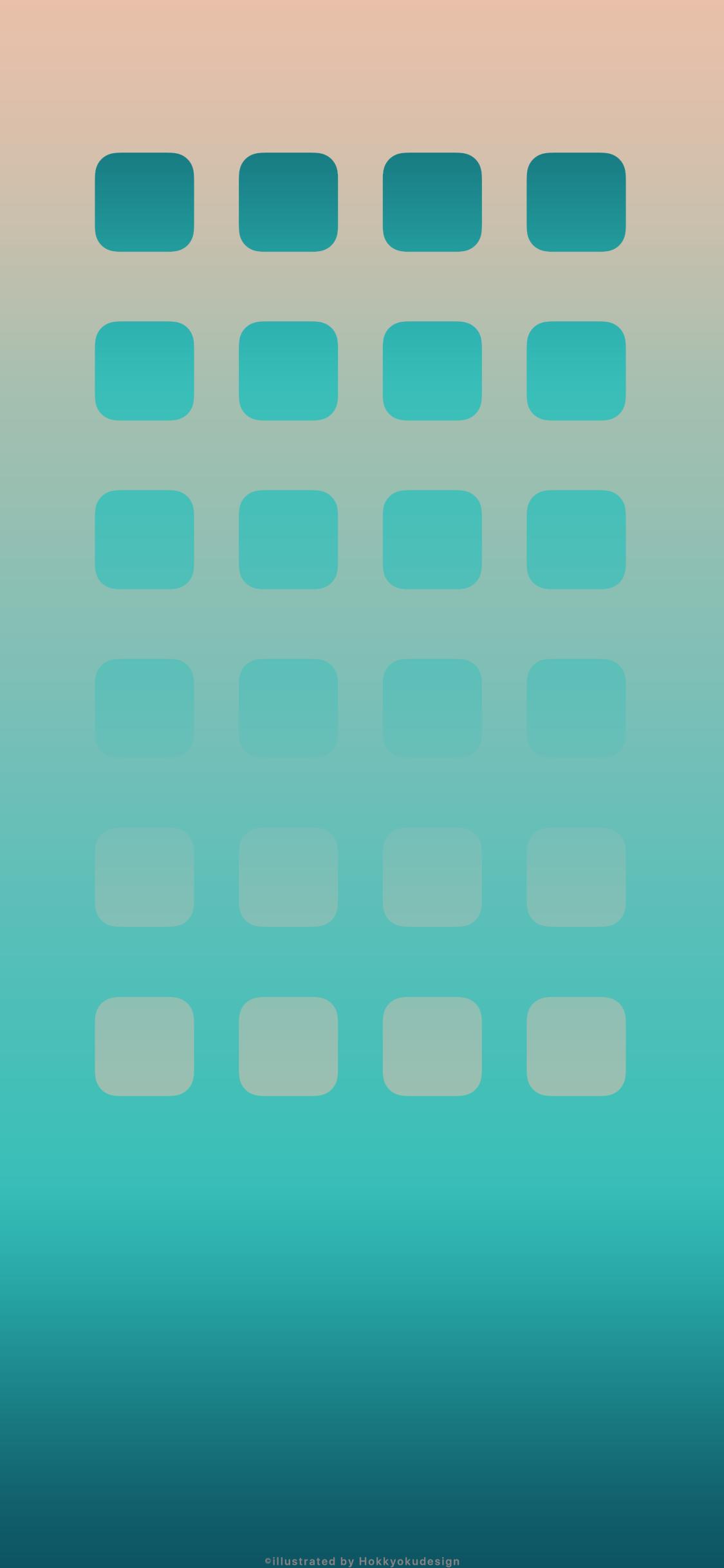 Iphonexの動く壁紙 Ios11ブルーグラデーション 壁紙 壁紙 本棚