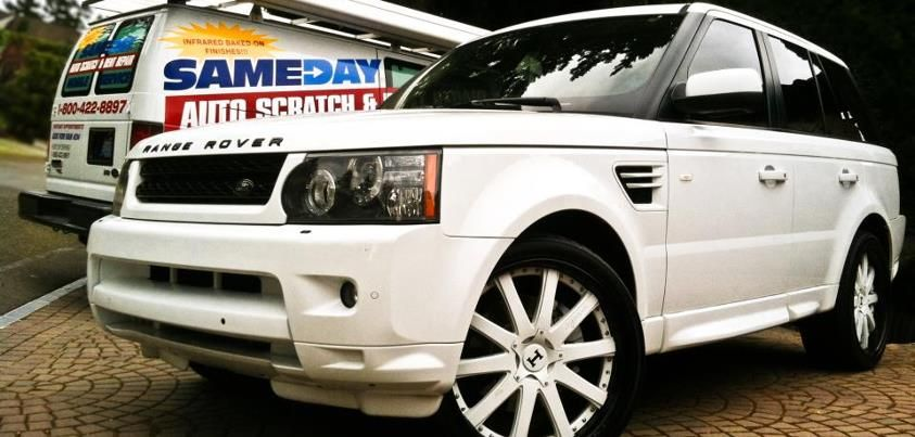 Range Rover, Range Rover repair, repair Range Rover, mobile Range Rover repair, onsite Range Rover repair, sameday Range Rover repair, dent repair, door ding, car scratch repair, paint scratch, bumper scrape, alloy wheel, leather repair, paintless dent, vinyl repair, Seattle auto body, Portland car repair, dent repair Bellevue, car scratch repair Tacoma