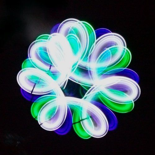 Purple Green White 6-LED Orbit Light Toy Lightshow for raves and kids by GloFX. $22.99. Our Top-Of-the-Line 6-LED Orbits are Guaranteed to blow your mind with stunning color and supreme performance! Create instant light shows for your friends with ease! GloFX 6-LED Orbits are perfectly balanced for flawless spinning and easy tricks! These professional quality orbits are made with nylon string for extra speed and quicker response time from your orbit. Due to the weight of the 6...