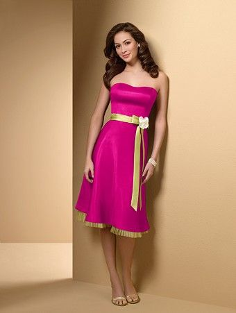 This is kinda what I want for my bridesmaid dresses...Hot pink and ...