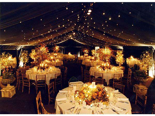 iluminacin para boda en otoo e invierno  Decoracin