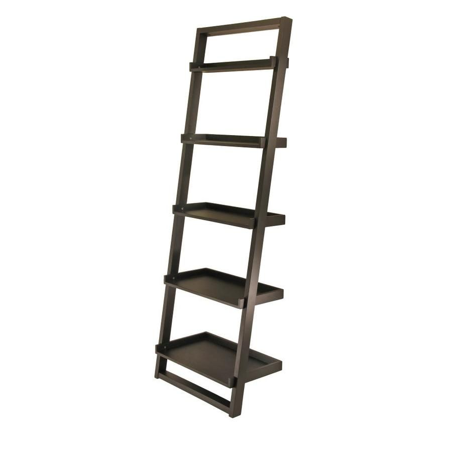 Winsome Wood Bailey Black 5 Shelf Ladder Bookcase 29525 In 2020