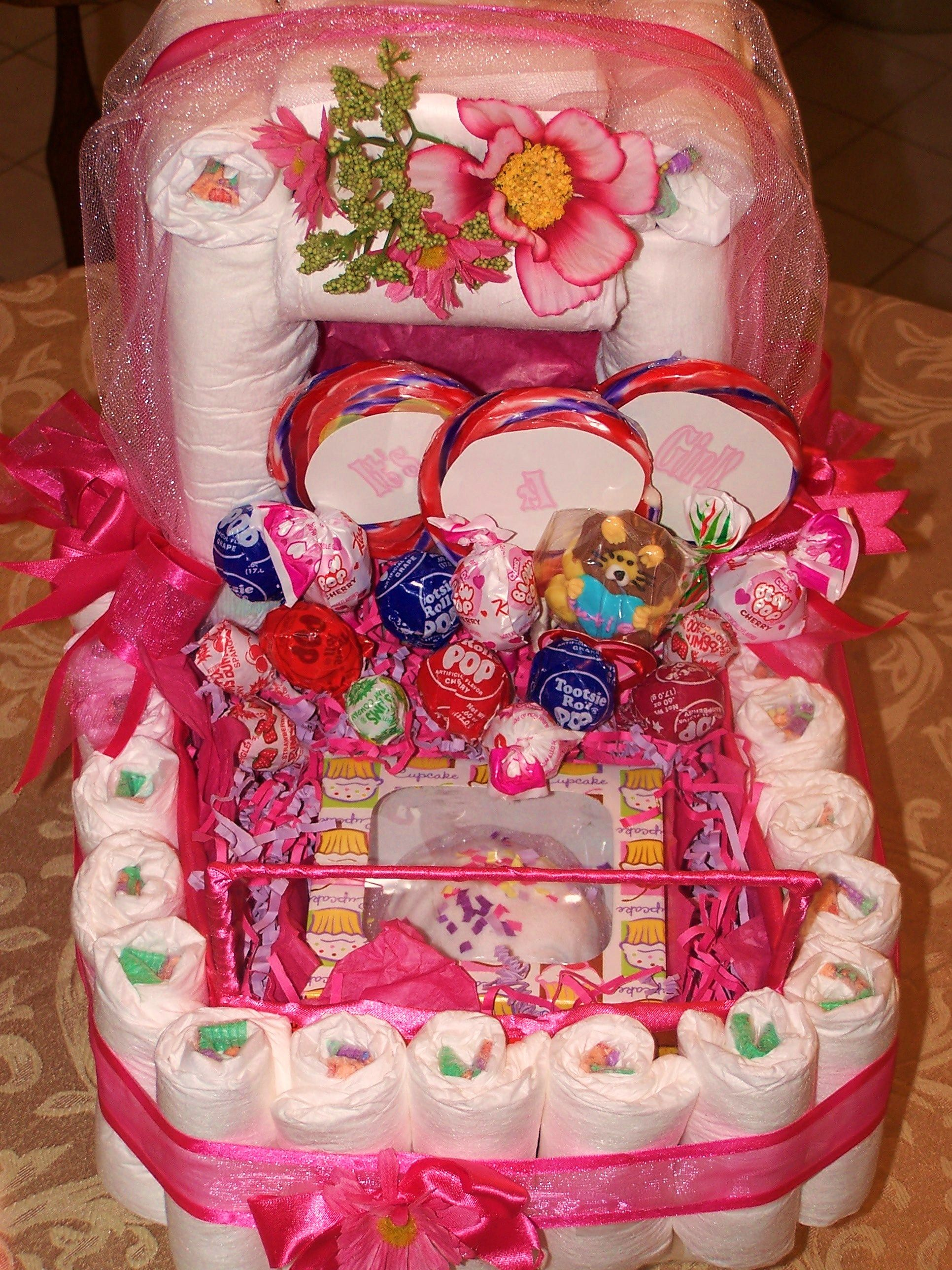 Diaper Carriages and Diaper Cakes By Sweet Creations By Uniquely You, LLC.