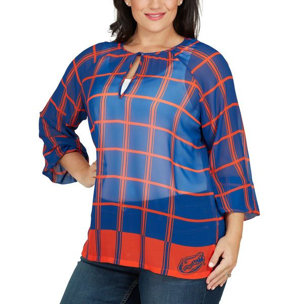a34f9b65ab5 Florida Gators Women s Plus Size Sheer Plaid Tunic - Royal -  64.99 ...