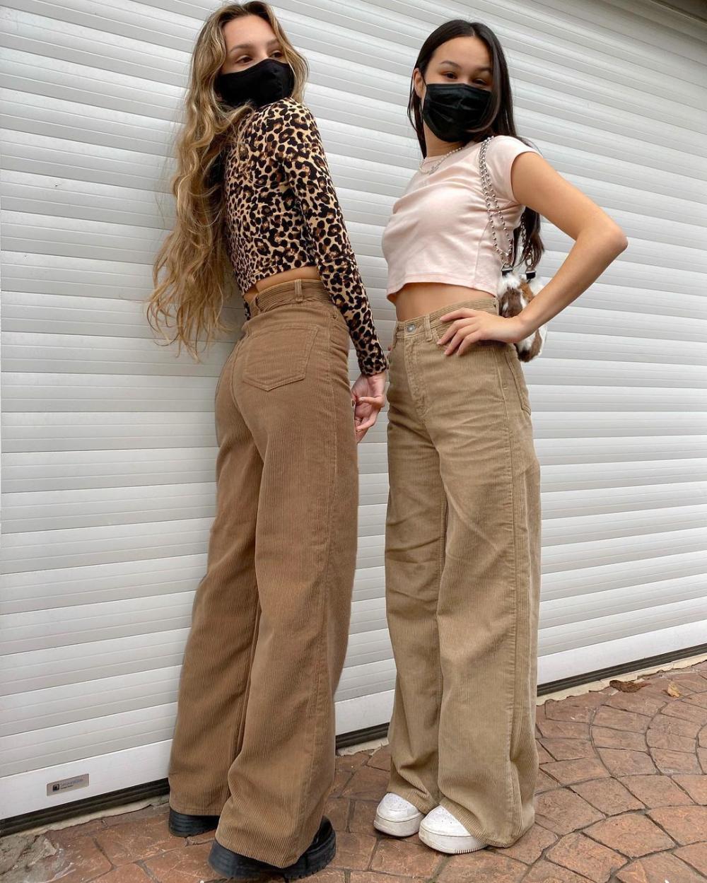 Photo of US $18.68 40% OFF|Rapcopter Khaki Corduroy Pants Women Harajuku Cargo Pants Y2K Wide Leg Trouser Autumn Winter High Waist Pants 90S Streetwear New|Pants & Capris|   – AliExpress