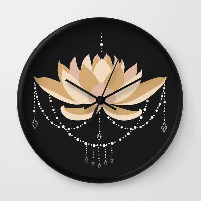 Buy Lotus Flower Wall Clock By Anastasiaratti Worldwide Shipping