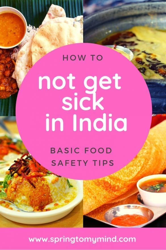 Basic food safety tips for India: How to not get sick in India