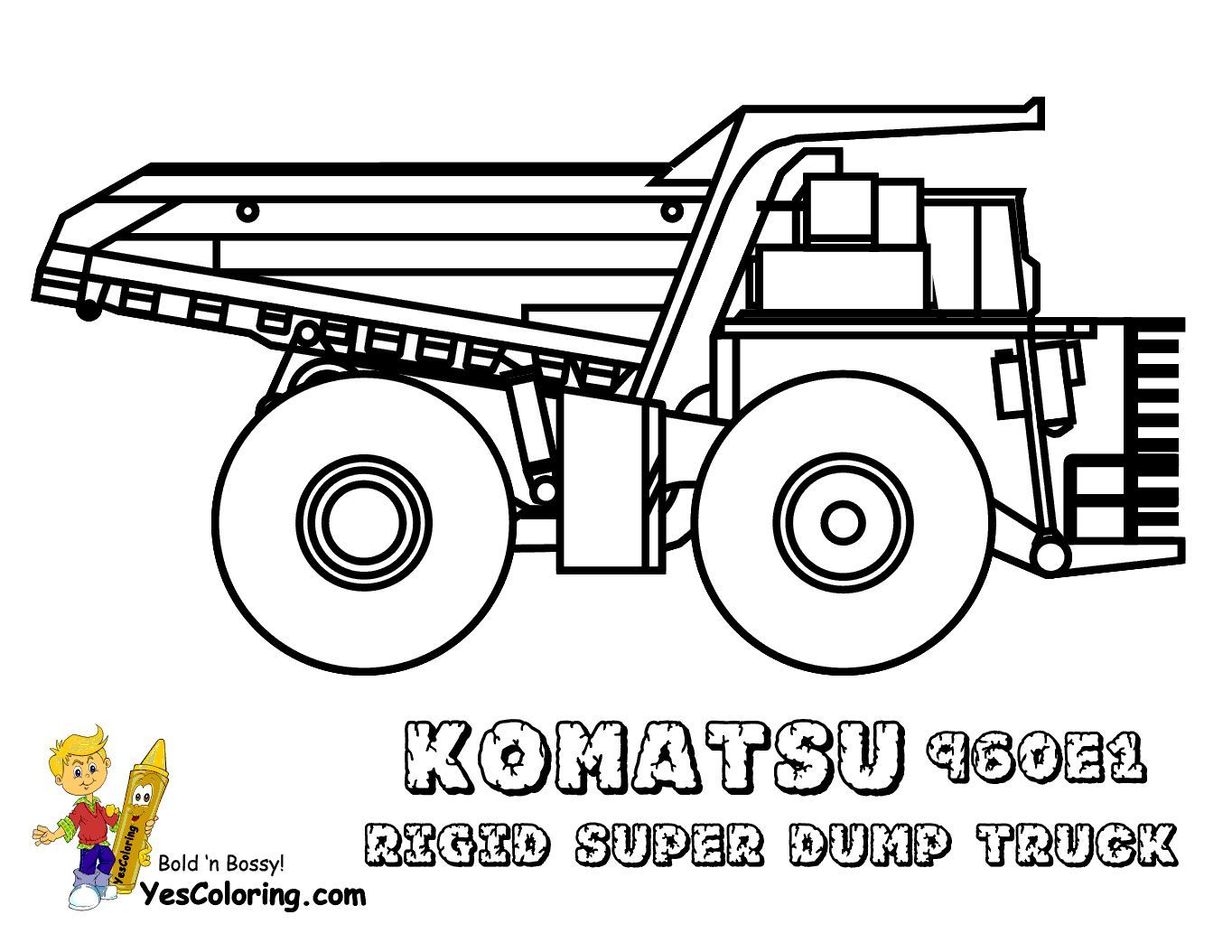 Print Out This Digging Free Construction Coloring Komatsu 960e1 Rigid Dump Truck Fo Real Te Truck Coloring Pages Tonka Truck Construction Coloring Pages