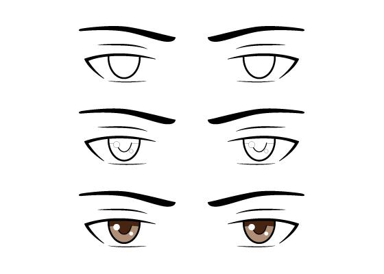 How To Draw Anime Manga Tutorials Animeoutline Manga Eyes Guy Drawing Anime Eyes