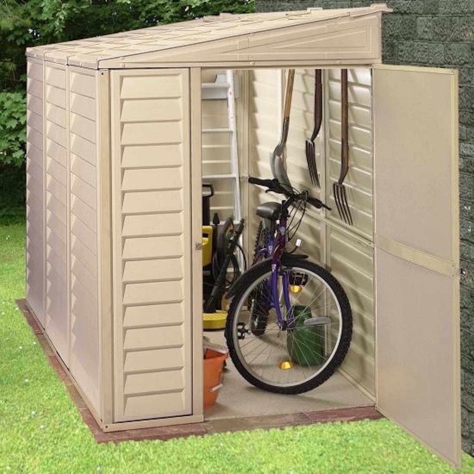 duramax sidemate 4x8 vinyl shed with foundation products