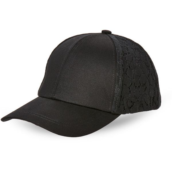 22f6fc161 Bcbgeneration Lace Baseball Cap ($13) ❤ liked on Polyvore featuring ...