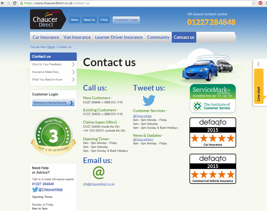 CONTACT INFORMATION Make it simple, Car insurance, Co uk