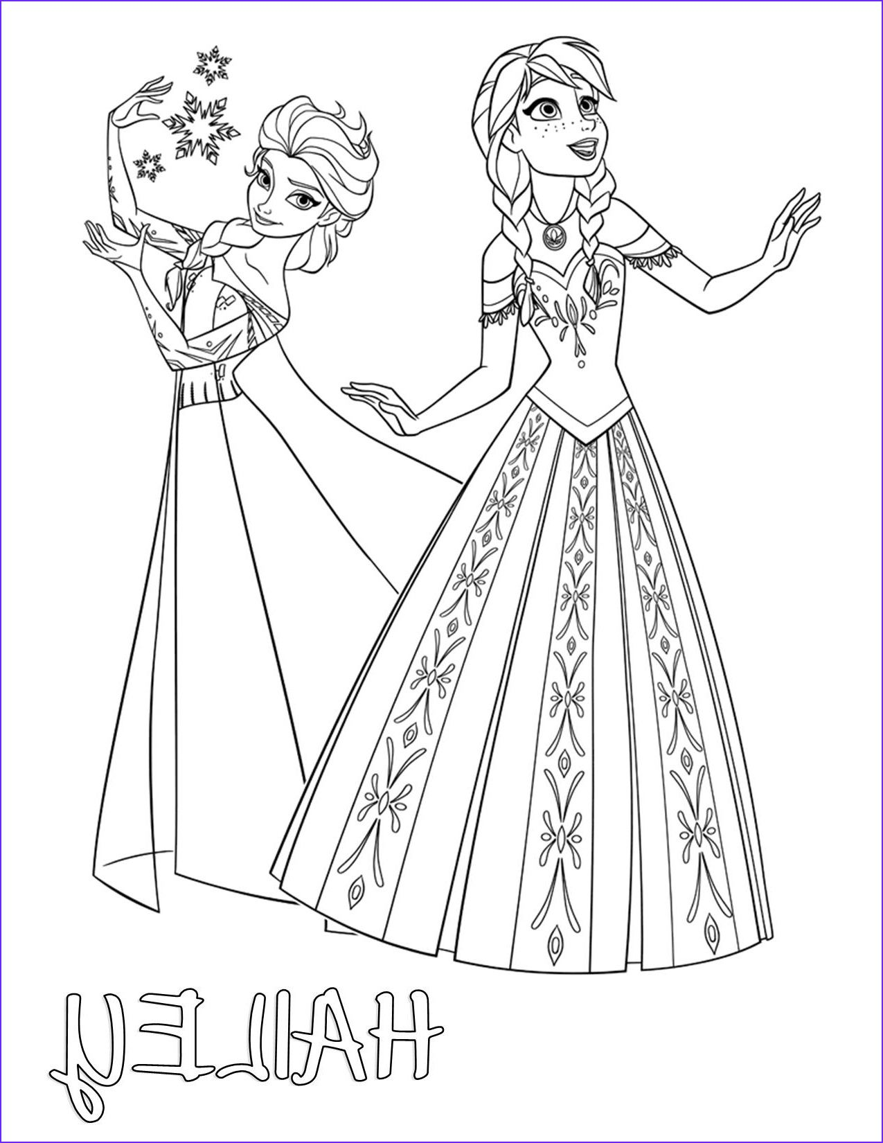 Frozen Elsa And Anna Color Your Own T Shirt Elsa Coloring Pages Disney Coloring Pages Cool Coloring Pages