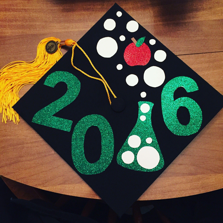 Decorating graduation cap ideas for teachers - Teacher Graduation Cap Decoration Science Education
