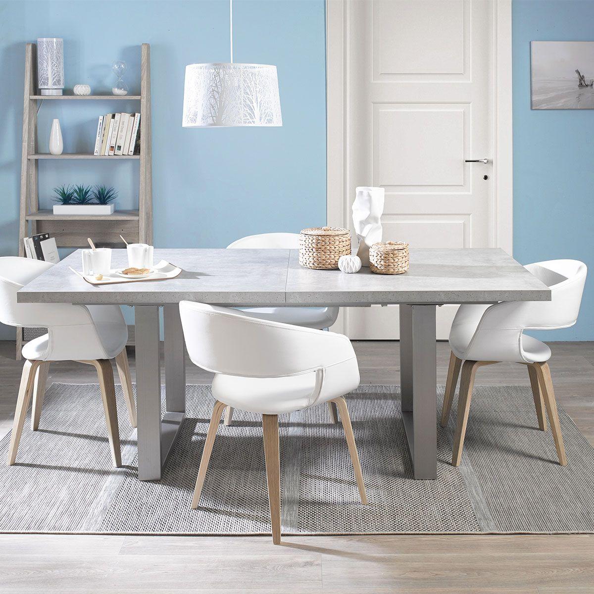 Table Rectangle Avec Allonges Connor Gris Huis Interieur Interieur Huis