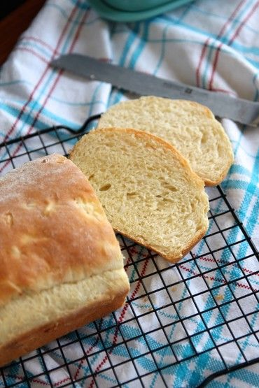 Baked Potato Bread | Soft & fluffy white bread with a subtle onion flavor.