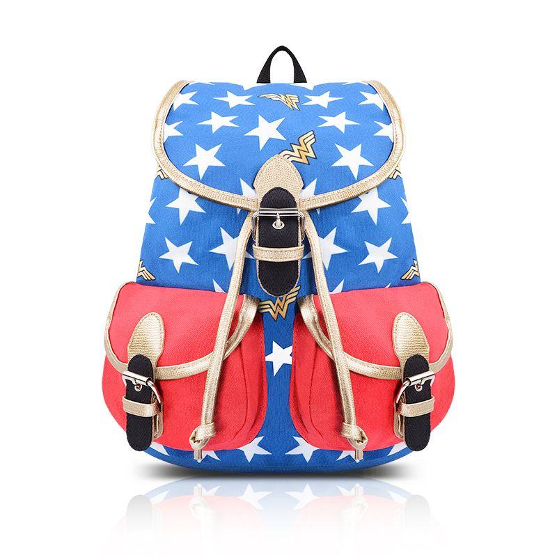 School Bag Backpack Wonder Woman DC Universe Movie 2018 | Wonder ...