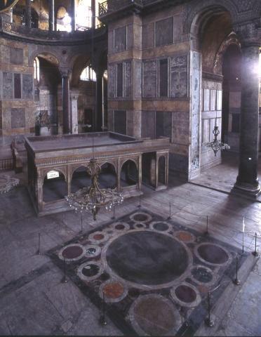 Omphalion Hagia Sophia Museum Hagia Sophia Byzantine Architecture Byzantine Empire