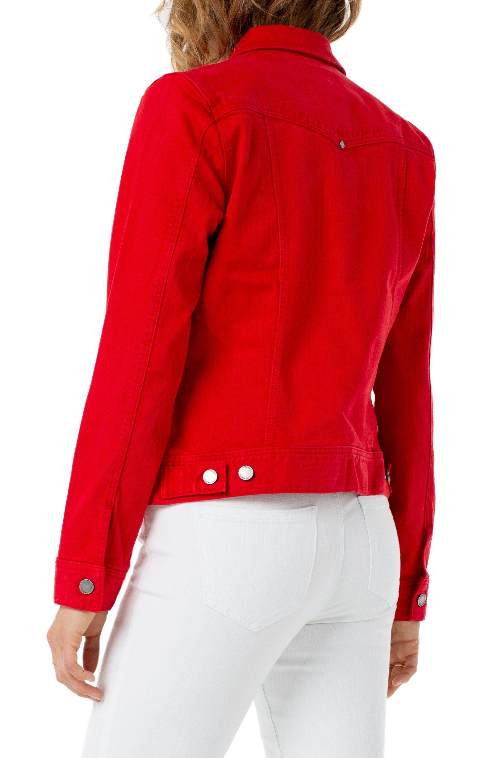 Liverpool Womens Classic Jean Jacket High Performance Denim