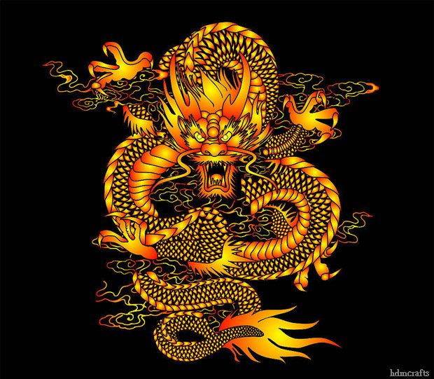 chinese dragon art is