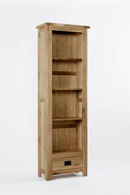 Westbury Oak Tall Narrow Bookcase Countryfurniture Furniture
