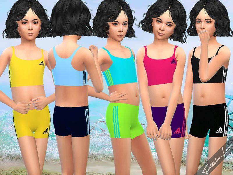 Girls in bikinis working out