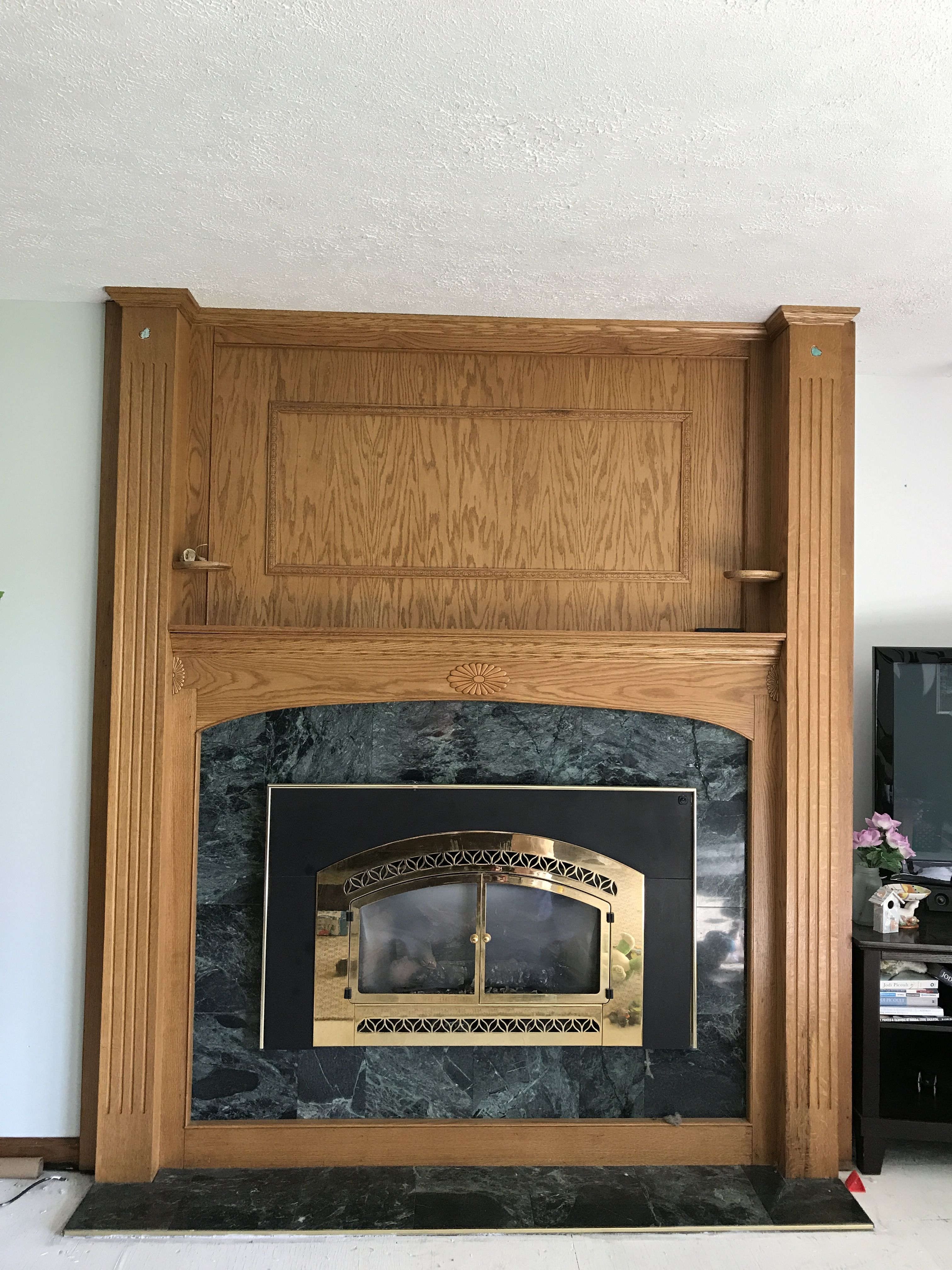 Fireplace Remodel before Keystone Capital LC