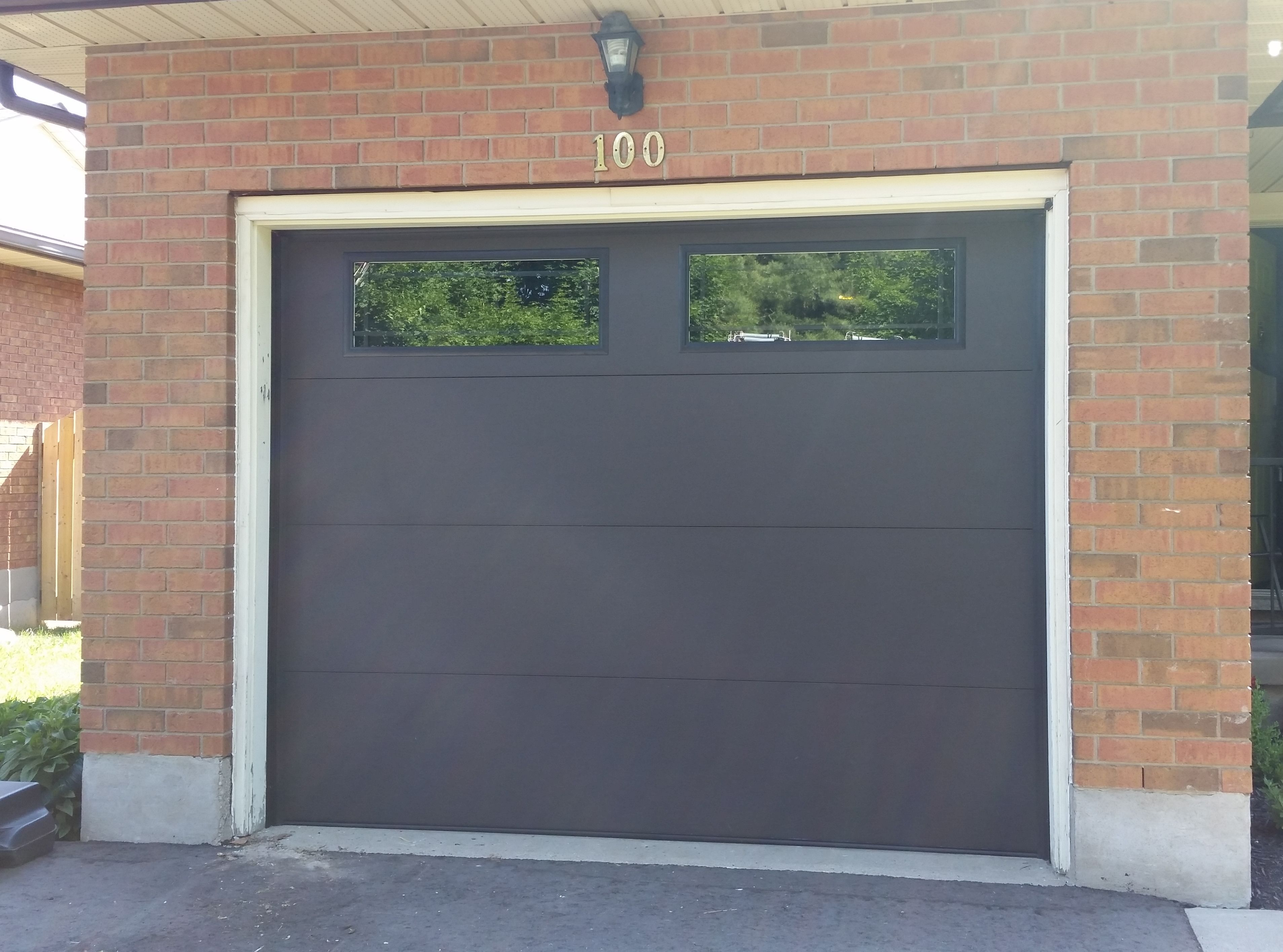 flush panel garage doori17950 SC Elite in Charcoal with Flush Panel  WGD Installations