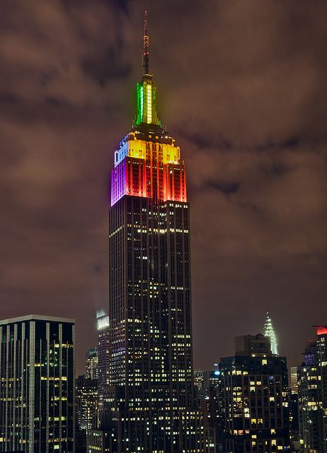 Rainbow Empire State Building I Believe In Equality Pinterest