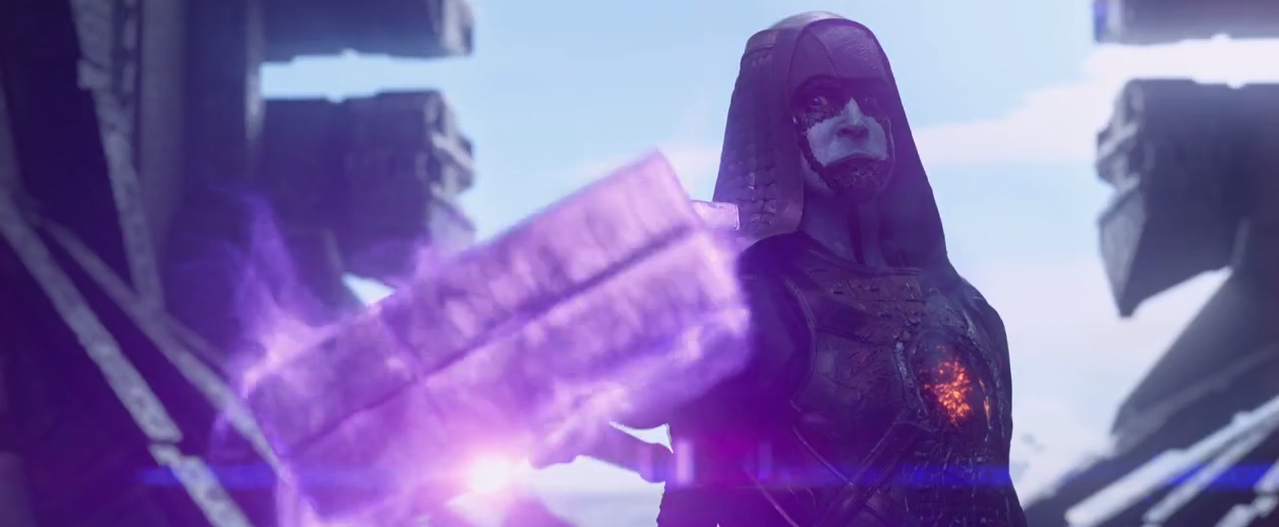 Lee Pace as Ronan the Accuser in Guardians of the Galaxy (http://thedailysuperhero.tumblr.com/post/86227973680/screenshots-from-the-new-guardians-of-the-galaxy)