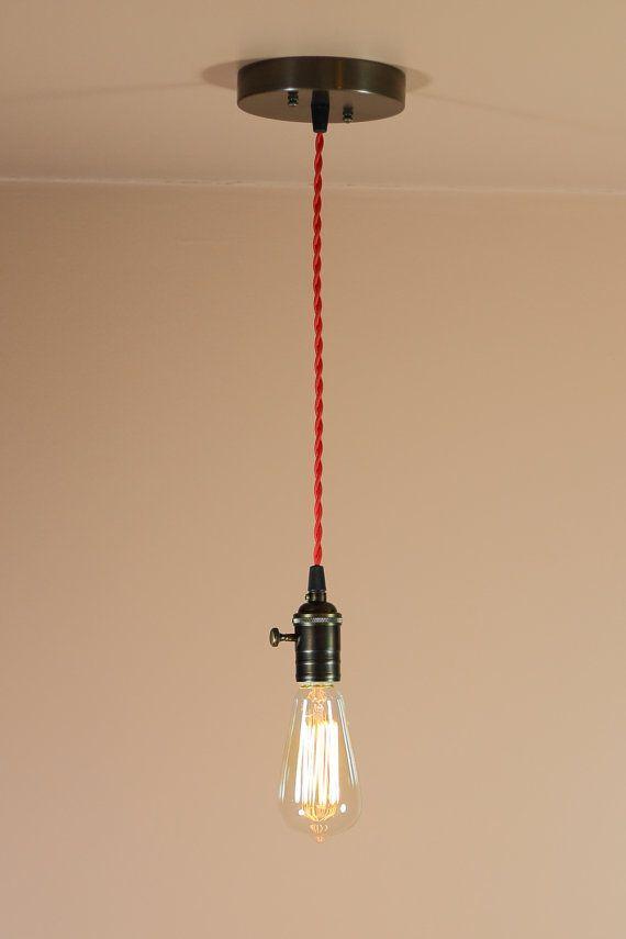 lightbulbs bare. Bare Bulb Pendant Light - Black Or Brown Twisted Wire Oil Rubbed Bronze Finish Lightbulbs