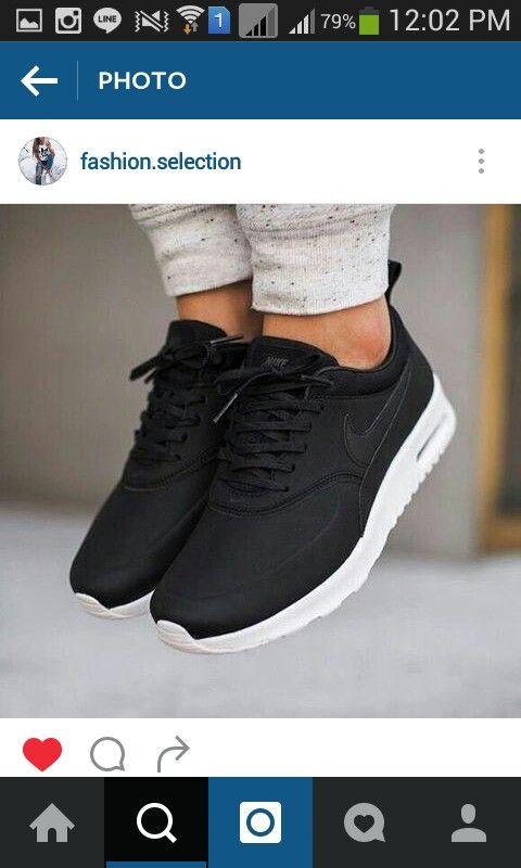 a5918e2d5365 Nike  Roshe Run  Sneaker (Women) available at  Nordstrom Black Nike Shoes