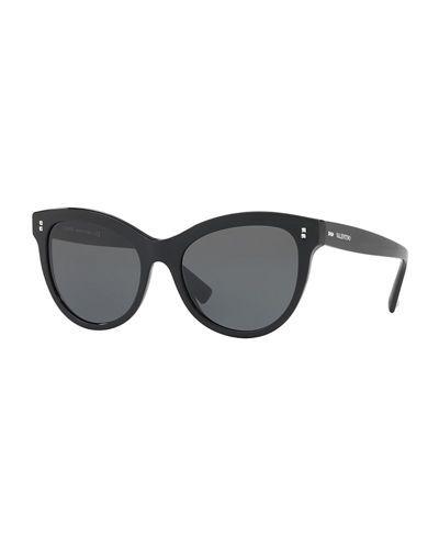 d49d9bcce12 D2UUY Valentino Rockstud Rivet Monochromatic Cat-Eye Sunglasses ...
