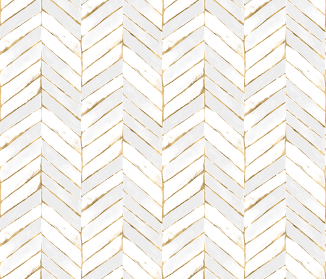 Colorful Fabrics Digitally Printed By Spoonflower Chevron Painted White Gold In 2021 White And Gold Wallpaper Chevron Wallpaper Herringbone Wallpaper