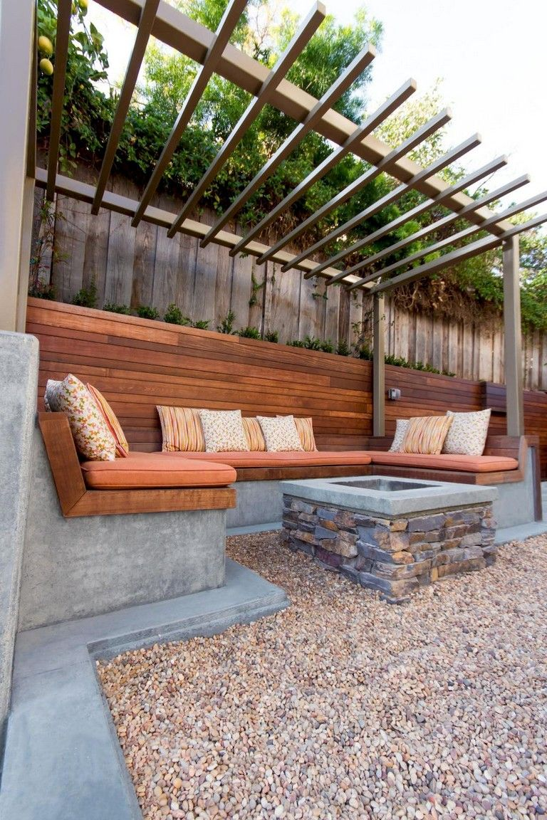 76+ Marvelous DIY Fire Pit Ideas and Backyard Seating Area ... on Back Garden Seating Area Ideas id=88127