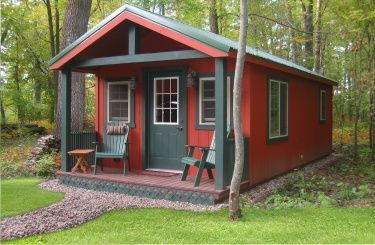 12x28 Camping Cabin -- fun for a distant area on the