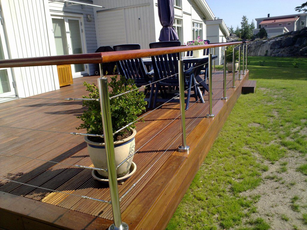 our stainless cable railing and wood inox balusters are. Black Bedroom Furniture Sets. Home Design Ideas