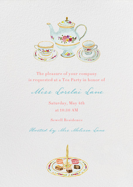 tea party invitation I used paperless post for my daughters party – Fancy Party Invitation