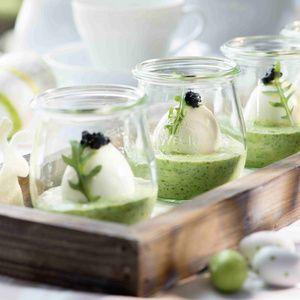 Eier in grüner Soße