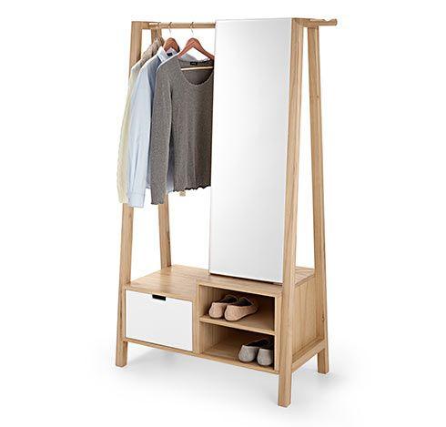 wieszak na ubrania z lustrem szuflad i schowkiem wykonczenie pinterest kleiderst nder. Black Bedroom Furniture Sets. Home Design Ideas