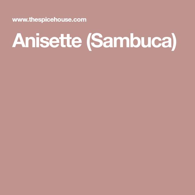 Sambuca Drinks, Homemade
