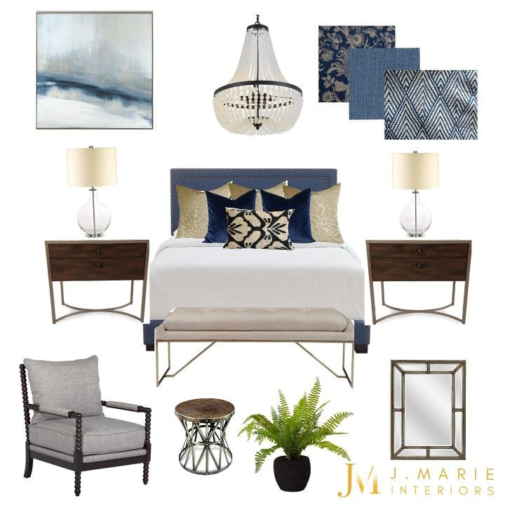 Take the time to incorporate elements that truly make you happy and give your space the overall feeling you desire. It helps to create a concept or mood board to visualize the end result.  P.S. it might be possible that you already have most of the elements you need to create that space, you just need help piecing it together!  #designconsultant #designgoals #bedroomdesign #redesign #repurpose #onlinedesign #designonline #roomlayout #spaceplanning #bedroomupdate #bedroombliss #bluebedroom #bedro