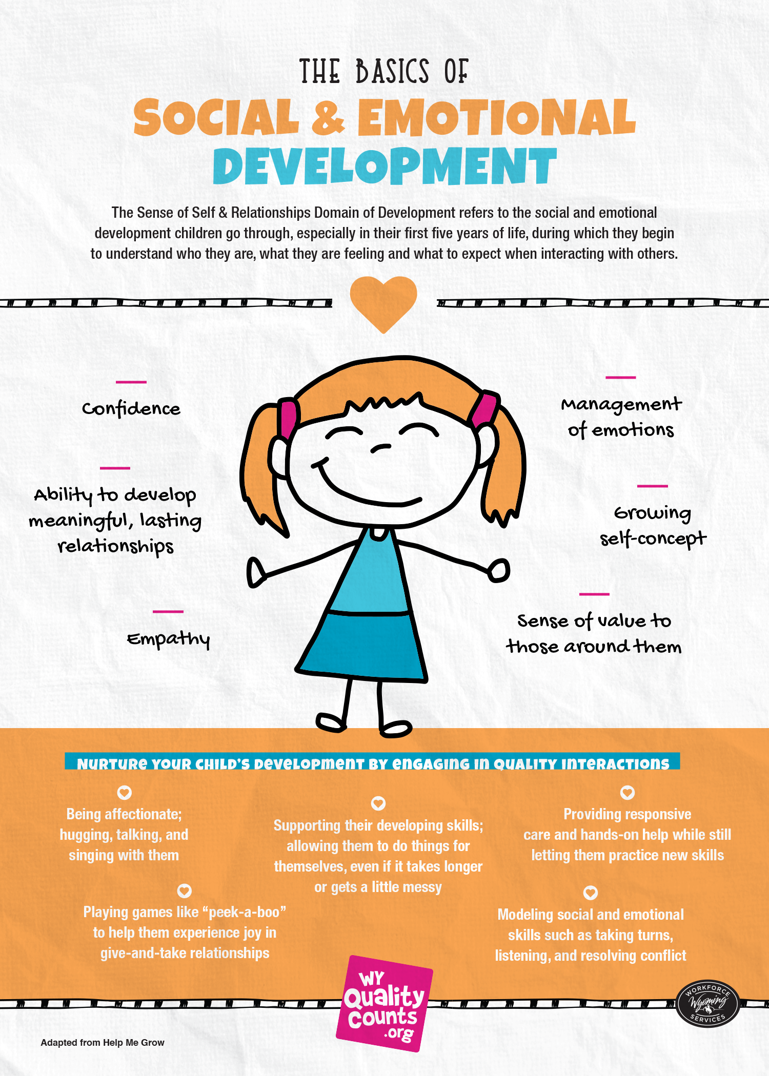 The Basics Of Social And Emotional Development Wy Quality Counts Emotional Development Social Emotional Development Social Emotional Activities