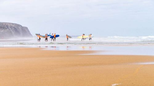 Surfles in Amoreira, Algarva