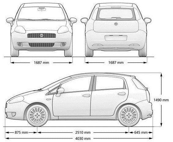 Fiat Grande Punto 2005 - 2012 u2013 POLOVNJAK, KVAROVI Fiat grande - copy car blueprint website