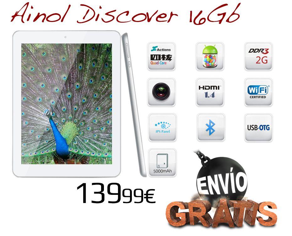 Nueva Ainol Discover a 139,99€: http://zococity.es/ainol.html