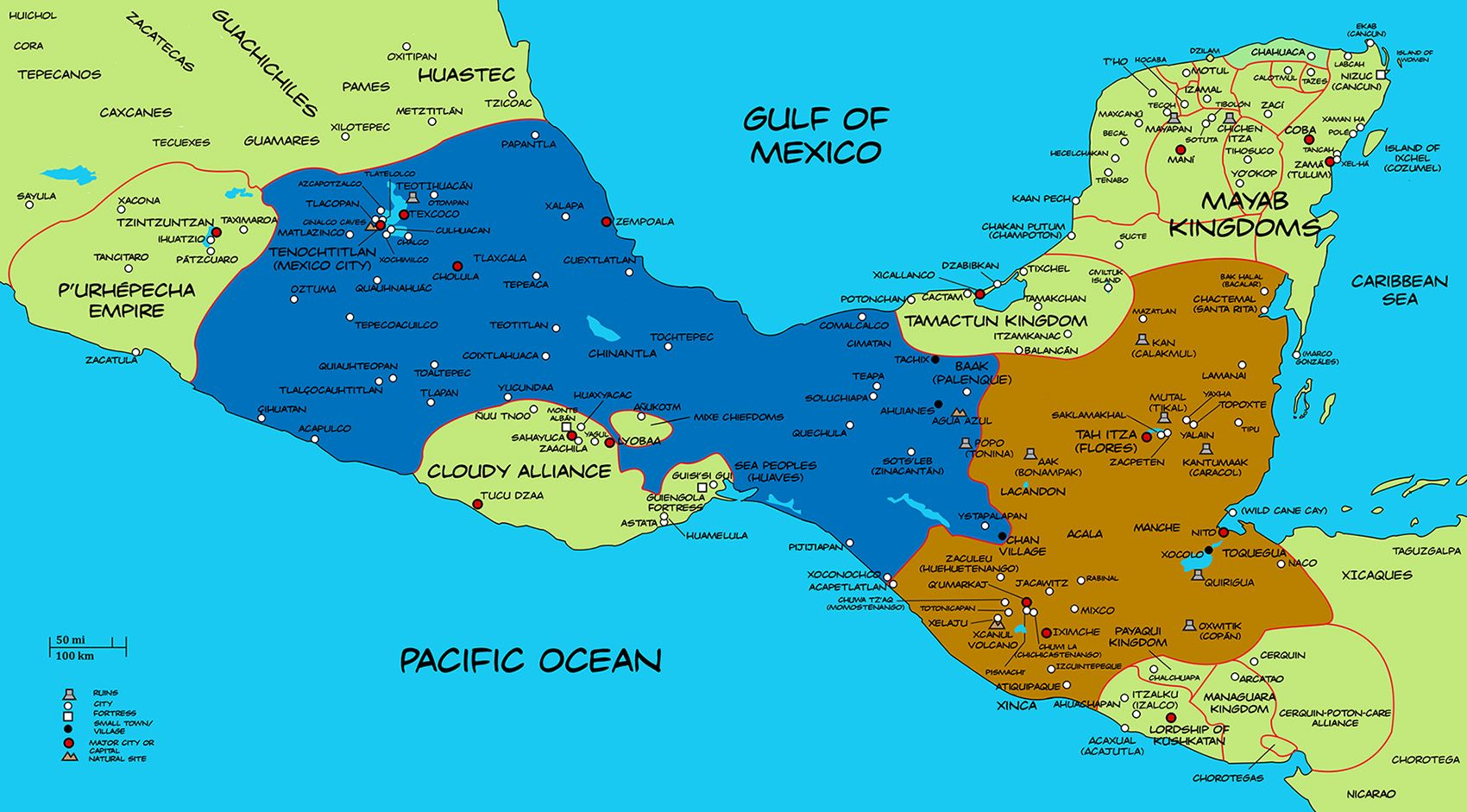 Alternate History Map Of Mesoamerica By Plumed Serpent