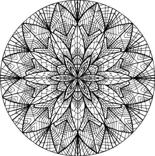 Mandala moderne pour adulte imprimer et colorier dans 11 coloriages de mandalas pour adultes - Mandala adulte ...