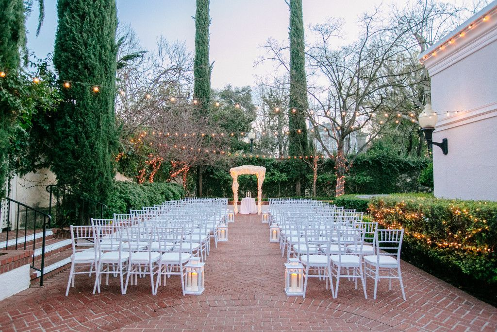Vizcaya Sacramento Wedding Venue Outside The Lushly Landscaped Courtyard Gardens Provide A Remarkable