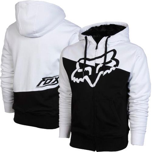 Main Image For Fox Hi Def Sasquatch Full Zip Hoodie White Black Fox Clothing Fox Racing Clothing Hoodies